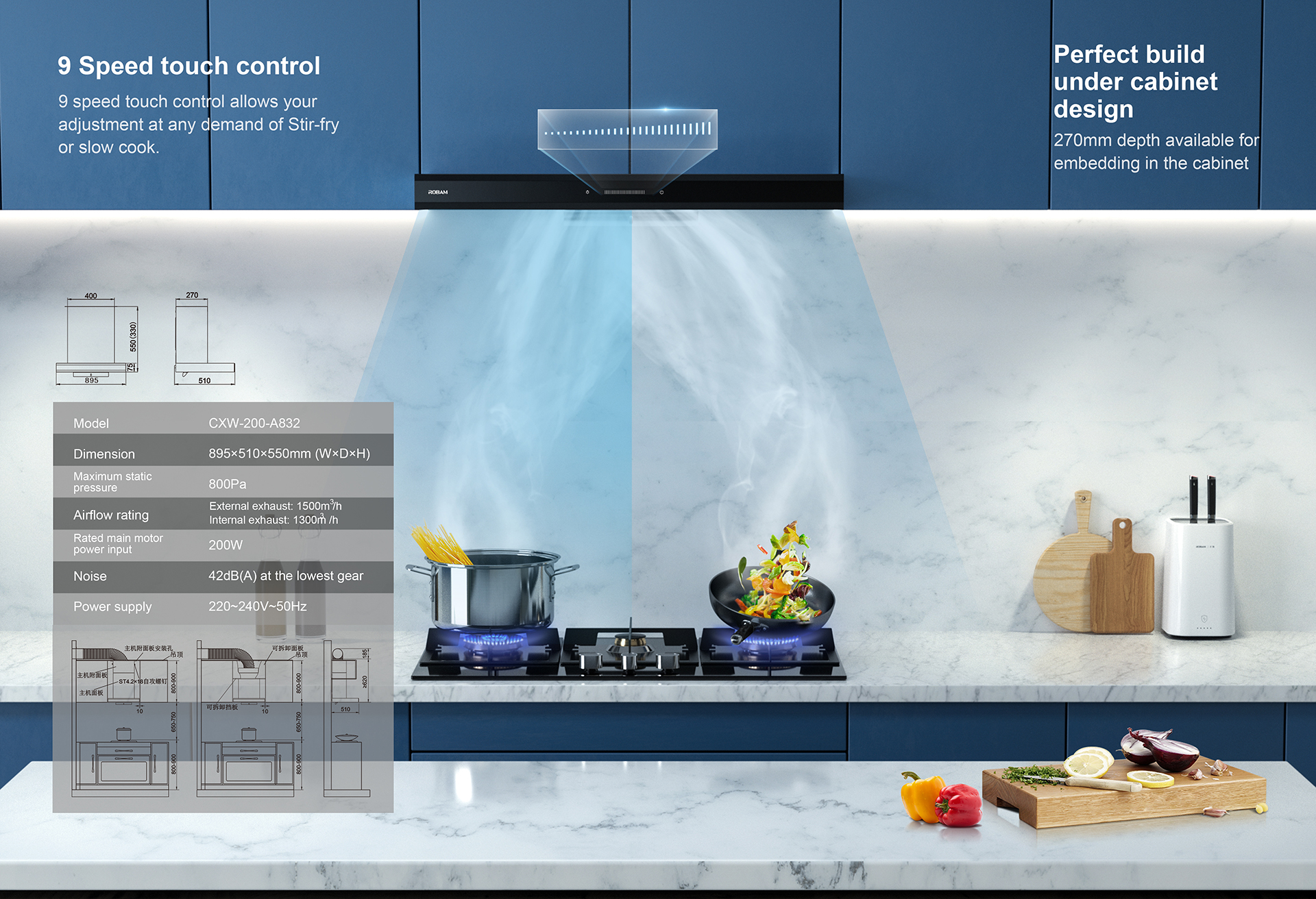 ● Improving efficiency with double static and enhanced negative pressure zone.<br /> ● Air purifying module